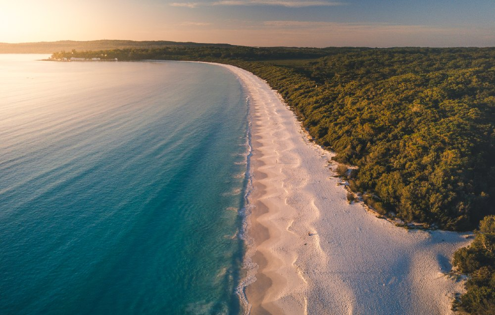 white sand beaches jervis bay