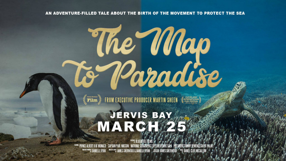 map to paradise jervis bay screening